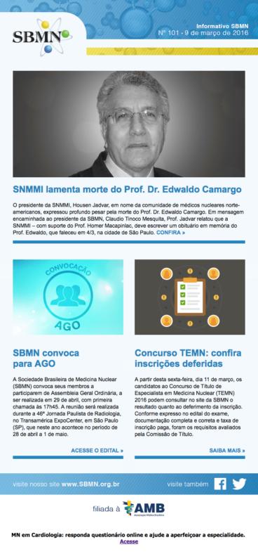 NEWSLETTER 101 – MARÇO DE 2016