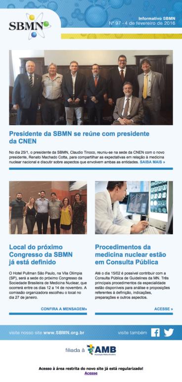NEWSLETTER 97 – FEVEREIRO DE 2016