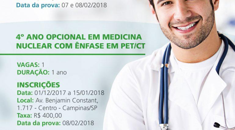 DIMEN – Medicina Nuclear abre vagas para residência e curso com ênfase em PET/CT