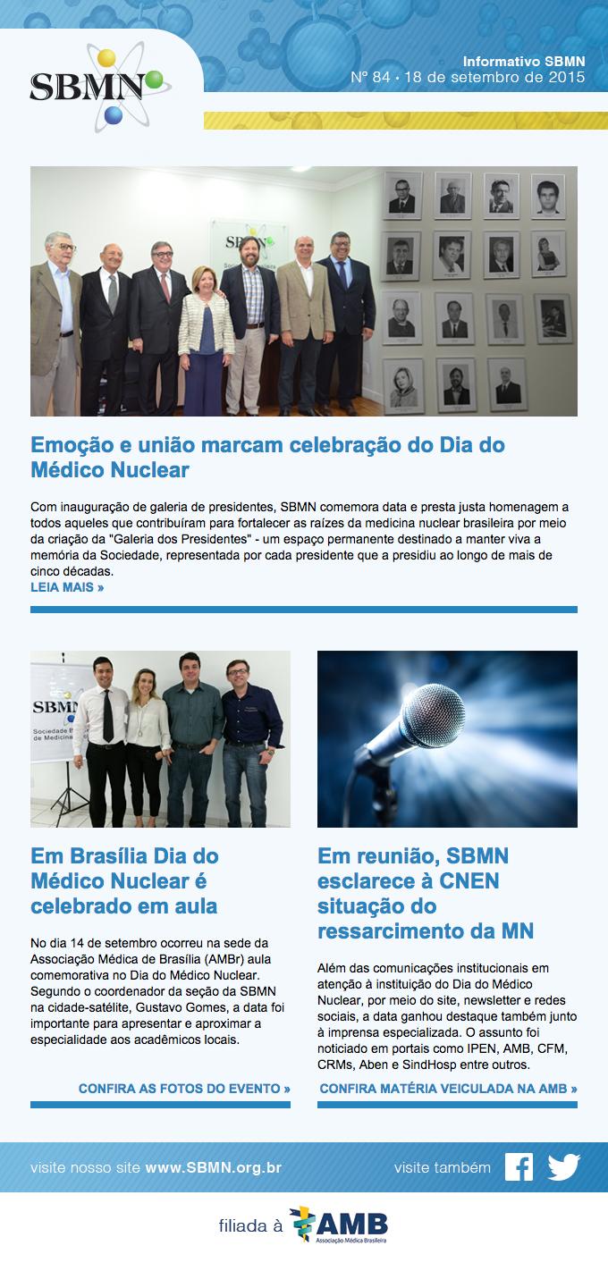 Newsletter 84 – setembro de 2015