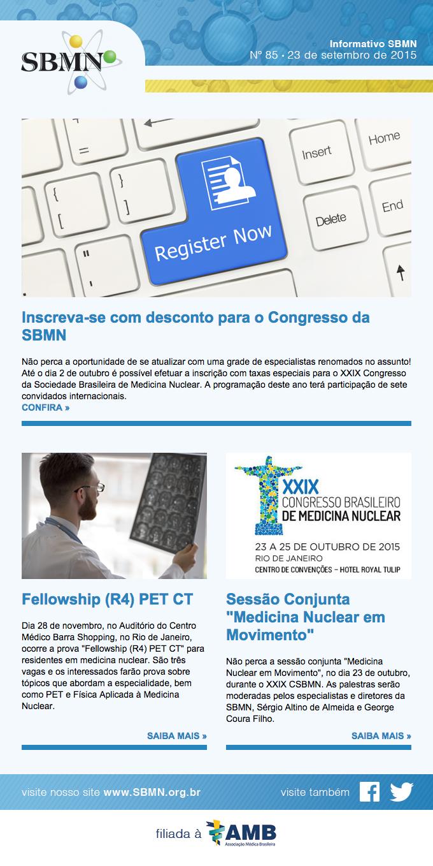 Newsletter 85 – setembro de 2015