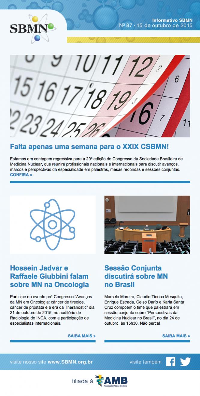 Newsletter 87 – outubro de 2015