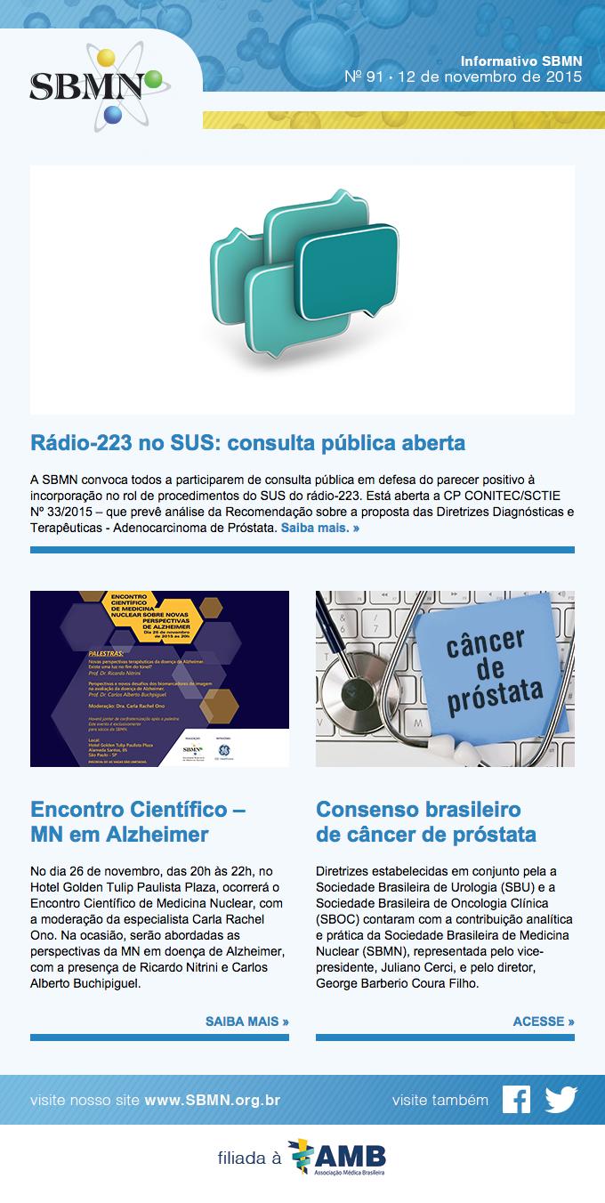 Newsletter 91 – novembro de 2015
