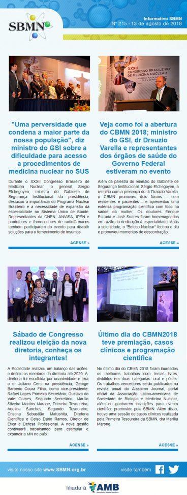 NEWS 215 – AGOSTO DE 2018