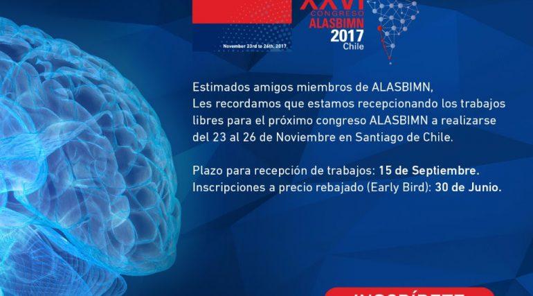 Abertas as inscrições para interessados em participar do Alasbimn 2017 no Chile