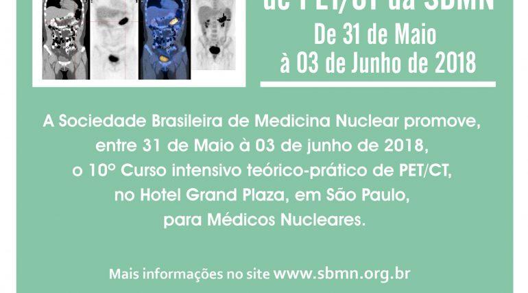Inscreva-se para o 10° Curso Intensivo de PET/CT da SBMN