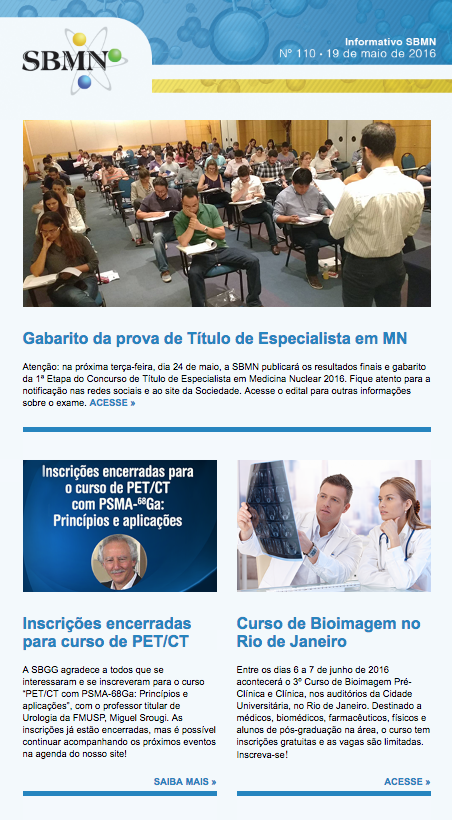 NEWSLETTER 110 – MAIO DE 2016