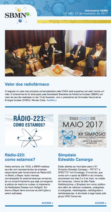NEWSLETTER 140 – FEVEREIRO DE 2017