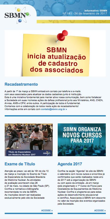 NEWSLETTER 141 – FEVEREIRO DE 2017