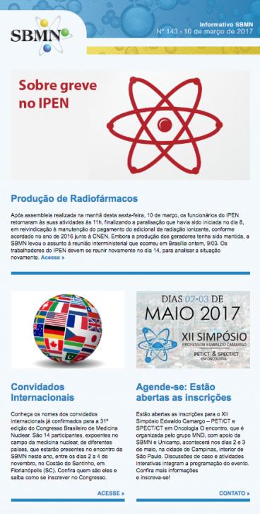 NEWSLETTER 143 – MARÇO DE 2017