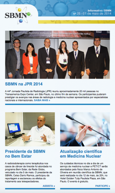 NEWSLETTER 25 – MAIO DE 2014