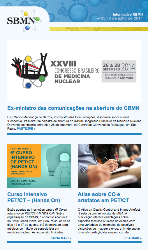 NEWSLETTER 33 – JULHO DE 2014