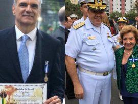 Membros da Diretoria da SBMN são homenageados pela marinha