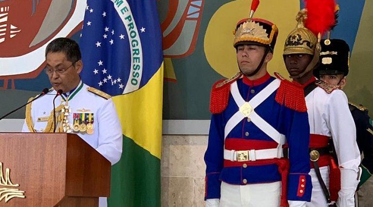 SBMN saúda Noriaki e dá boas-vindas ao Contra-Almirante Antonio Capistrano de Freitas Filho