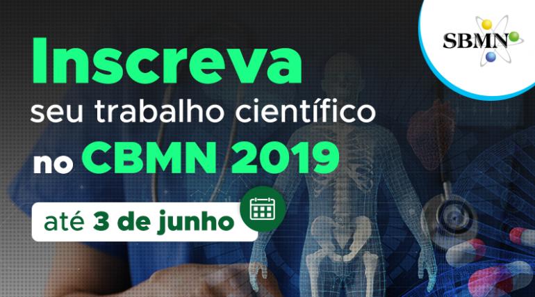 Segunda é o último dia para enviar trabalhos científicos ao CBMN 2019!