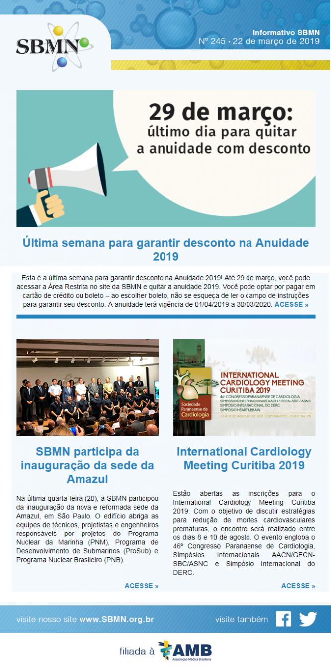 NEWS 245 – MARÇO 2019