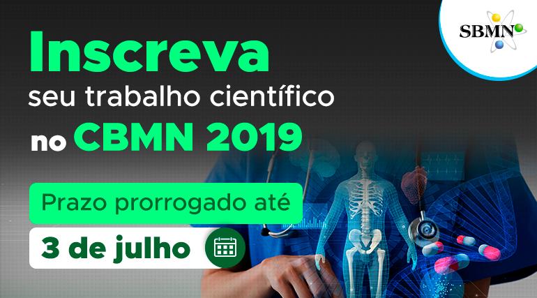 3 de julho: último dia para enviar trabalhos científicos ao CBMN 2019!